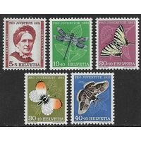 1951 Швейцария 561-65 Насекомые 12,00евро