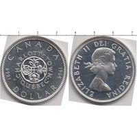 Доллар Канада1964 г серебро 23 гр