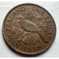 Новая Зеландия 1 пенни, 1958  2-7-10