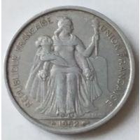 Французская Океания 5 франков 1952 года