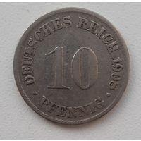 Распродажа - Германия (Империя) 10 пфеннигов 1908 (D)_km#12