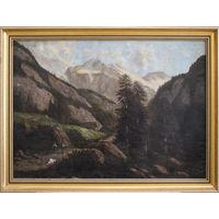 """Неизвестный художник """"Австрийские горы"""""""