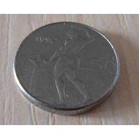 50 лир Италия 1992 г.в. KM# 95.2, 50 LIRE, из коллекции