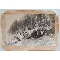 """Фото """"Переселенцы из Молодечно на золотых приисках в Якутии"""", г. Алдан, 1938 г."""