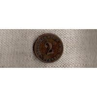Германия 2 пфеннига 1875 C (Ab)