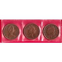 Великобритания. Набор монет 3 возраста Елизаветы II на монетах в 2 пенса.