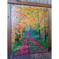 Картина написана на холсте маслом 40 на 50 см