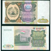 Таджикистан 200 рублов 1994 UNC