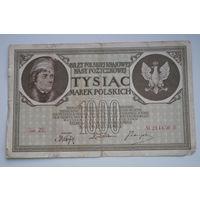 Распродажа ,1000 марок Польши 1919 серия ZE  No214450