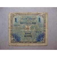 Банкнота 1 марка 1944 год Германия союзная зона оккупации