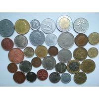 Сборные лоты 33 монеты Европы