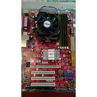 Материнская плата + процессор + память, рабочий комплект