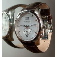 Новые Alfex,кварц,42mm, GMT, sapphir Swiss Made, Оригинал!
