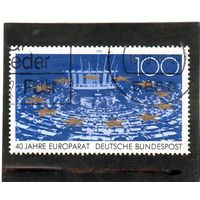 Германия. Ми-1422. Совет Европы, 40 лет. 1989.