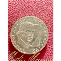 10 марок ФРГ серебро 0,625 Johann Gottfried Herder.64.