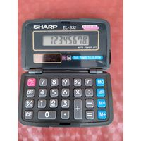 Калькулятор SHARP EL-832. Япония