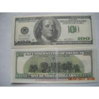100 долларов США ( сувенир, подарок ) пресс   распродажа