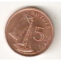 Гамбия 5 бутут 1971