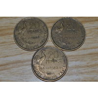 Франция 20 франков 1953