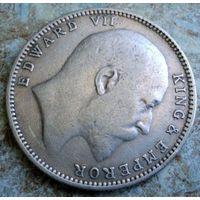 Британская Индия. 1 рупия 1907 г.