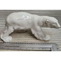 C 1 рубля Большой Белый Медведь ЛФЗ статуэтка фарфор