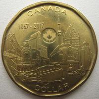 Канада 1 доллар 2017 г. 150-летие Конфедерации