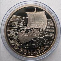 Канада, 5 долларов, 1999, викинги, пруф