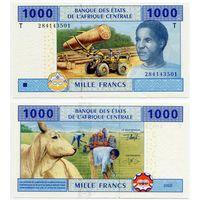 Центральная Африка (Конго) 1000 франков (образца 2002 года, P107T, UNC)