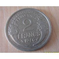 2 франка франция 1946 г.в. KM# 886a.1, 2 FRANCS, из коллекции