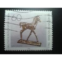 Берлин 1988 Конь, бронзовая статуэтка Михель-1,2 евро гаш.
