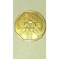 Сингапур 1 доллар 1989