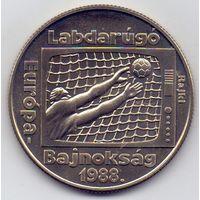 Венгрия, 100 форинтов 1988 года. Футбол ЧЕ 1988 года.