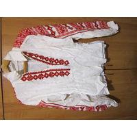 Рубаха старинная вышитая . Лен. 52 р-р. Рост 165 см. Вышиванка