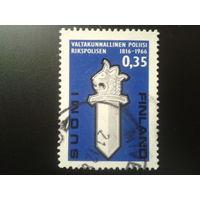 Финляндия 1966 эмблема полиции - 150 лет