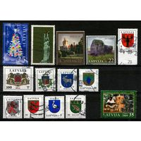 Латвия. 14 марок (все разные)