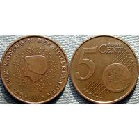 Нидерланды, 5 евроцентов 2001 года