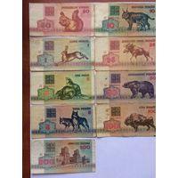Сборный лот банкнот РБ 1992 года