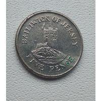 Джерси 5 пенсов, 1990  5-1-8