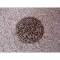 Красивая старинная латунная накладка, Германия.