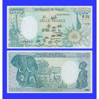 [КОПИЯ] Чад 1000 франков 1992г.