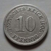 10 пфеннигов, Германия 1905 A