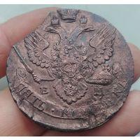 Монета Екатерина II 5 копеек 1795 год ЕМ хорошая, выкус