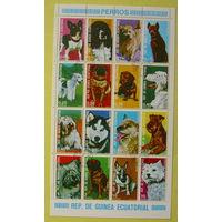 Экваториальная Гвинея. 1974 года. Собаки.