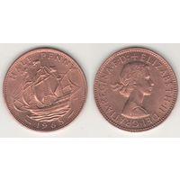 Великобритания _km896 1/2 пенни 1965 год (f14)*