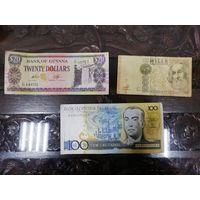 Сборный лот зарубежных банкнот (Италия, Бразилия и др.)