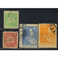 Грузия Дем Респ 1919-21 Св Георгий Царица Тамара Стандарт #3А,4А,8А,9А