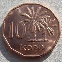 """Нигерия. 10 кобо 1991 год  KM#12  """"Пальмовое масло"""""""