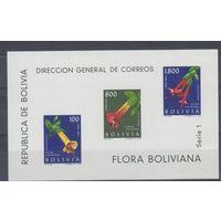 [1551] Боливия 1962. Флора.Цветы. БЛОК.