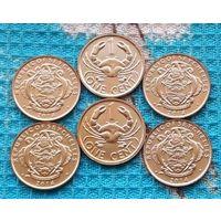Сейшельские острова 1 цент. UNC. Герб Сейшел. Краб.