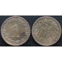 YS: Германия, Рейх, 1 пфенниг 1915D, KM# 10